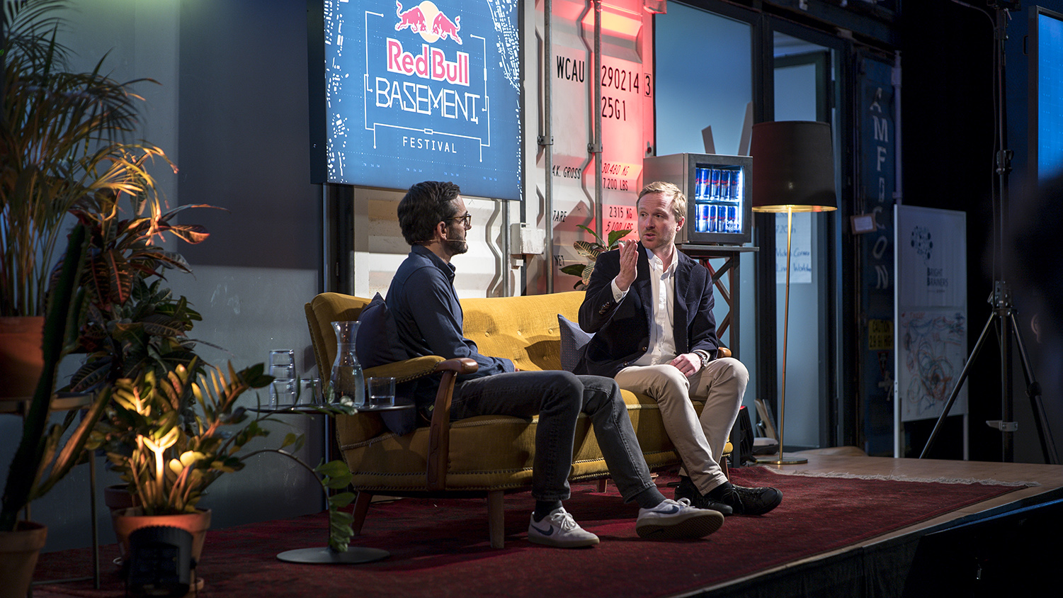 Discussion is seen during the Red Bull Basement Festival in Zurich, Switzerland on December 15, 2018