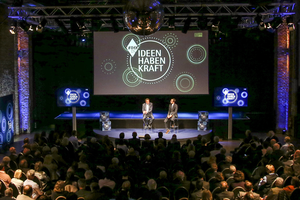 MUNICH, GERMANY - MAY 02: A general view of the Kick-Off-Event of the talk series 'IDEEN HABEN KRAFT' on the occasion of the 175th anniversary of the IHK for Munich and Upper Bavaria on May 2, 2018 in Munich, Germany. (Photo by Isa Foltin/Getty Images for IHK Muc)
